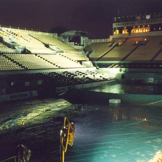 Roland Garros merkez kortta gün sonu, Temizlik zamanı...