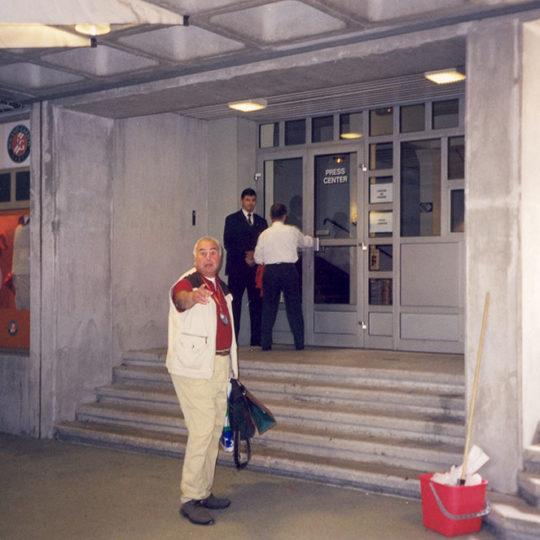 Roland Garros 2001, Basın merkezi girişi