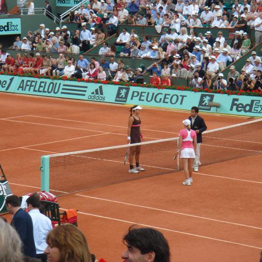 Roland Garros 2007, Justine Henin'ın (BEL) Ana Ivanovic'i (SRB) yenerek kazandığı dördüncü ve son şampiyonluğu öncesi...