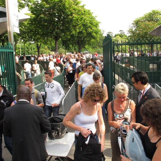 Seyircinin Roland Garros'a giriş zamanı