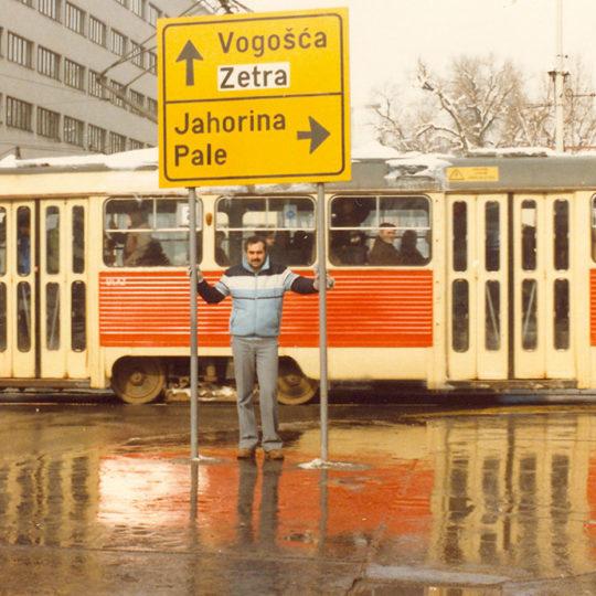 1984 Sarajevo Olimpiyat Oyunları (YUG) Kent içinden bir görüntü