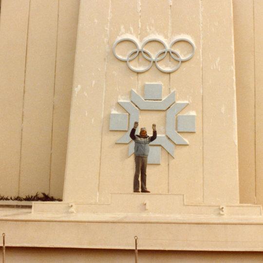 1984 Sarajevo Olimpiyat Oyunları (YUG) Kent içinde akşamları madalya seremonilerinin yapıldığı platform