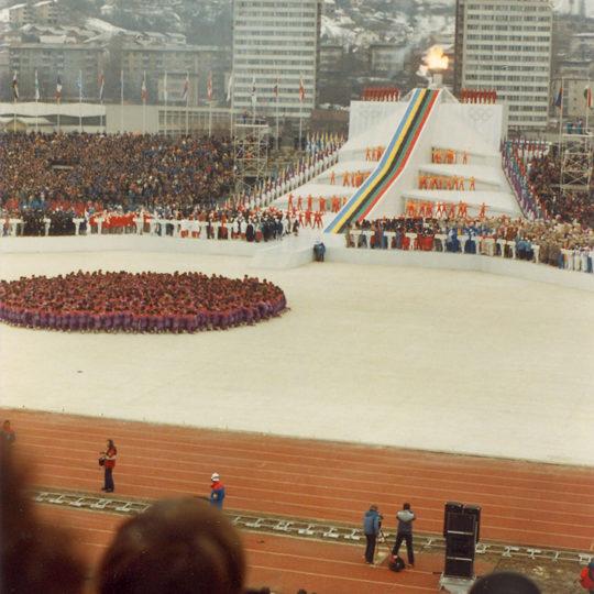 1984 Sarajevo Olimpiyat Oyunları (YUG) Açılış töreninden bir görüntü
