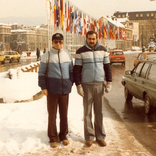 1984 Sarajevo Olimpiyat Oyunları (YUG) Kent merkezinde Kenan Onuk ile