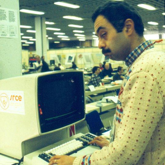 1984 Sarajevo Olimpiyat Oyunları (YUG) Basın merkezinde bilgisayar ile ilk tanışma