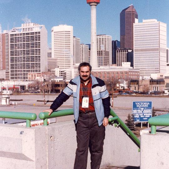 1988 Calgary Olimpiyat Oyunları (CAN) Calgary kentinden bir görüntü