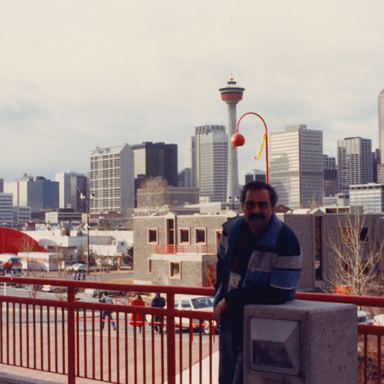 1988 Calgary Olimpiyat Oyunları (CAN) Kentten karsız, güneşli bir görüntü
