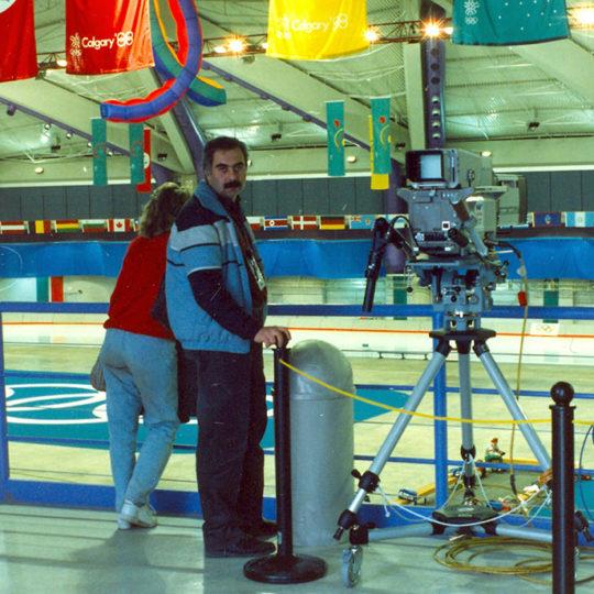 1988 Calgary Olimpiyat Oyunları (CAN) Sürat pateninin yapıldığı salon