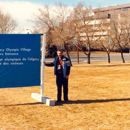 1988 Calgary Olimpiyat Oyunları (CAN) Oyunlarda olimpiyat köyünü ziyaret