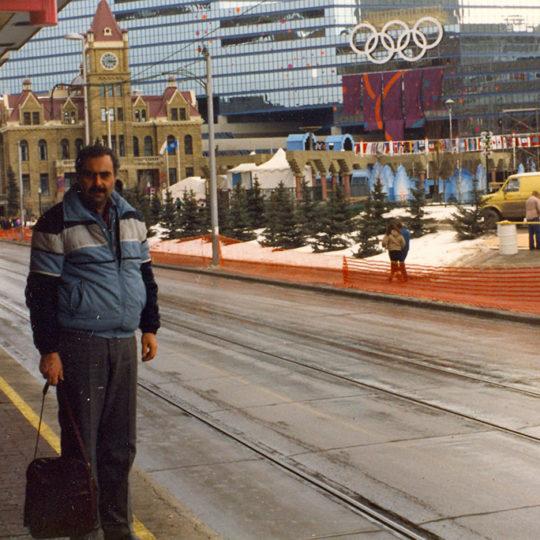 1988 Calgary Olimpiyat Oyunları (CAN) Olimpiyat halkaları ile süslü kentten görüntüler