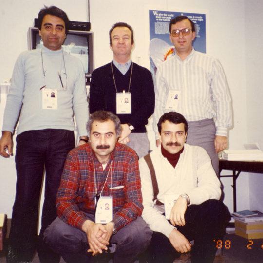1988 Calgary Olimpiyat Oyunları (CAN) Calgary ekibi: Ertan Yüce, Aydın Köker, Kenan Onuk, Fahri İkiler, Hüseyin Başaran