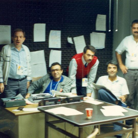 1988 Seoul Olimpiyat Oyunları (KOR) Seoul'deki ofisimiz ve çalışma arkadaşlarımın bir bölümü