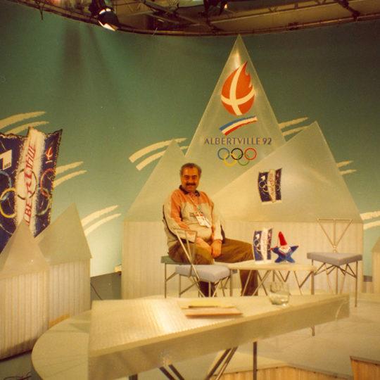 1992 Albertville Olimpiyat Oyunları (FRA) Alman ARD Televizyonu'nun Albertville stüdyosu
