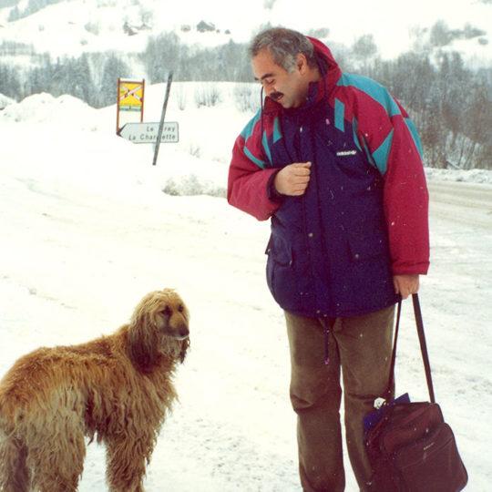 1992 Albertville Olimpiyat Oyunları (FRA) Kocaman bol tüylü köpek. Her sabah yolu üstünde selamlaşıyorduk