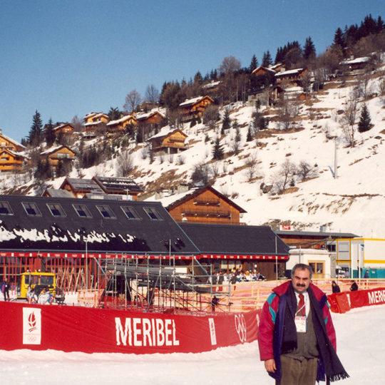 1992 Albertville Olimpiyat Oyunları (FRA) Bayanlar alp disiplini yarışlarının yapıldığı Meribel
