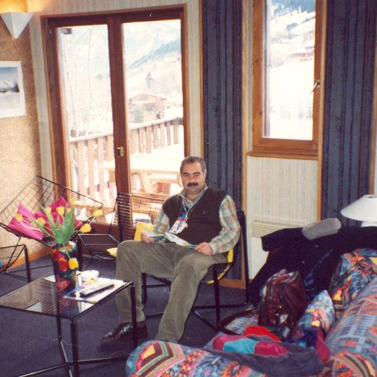 1992 Albertville Olimpiyat Oyunları (FRA) Kaldığımız küçük otelin lobisi