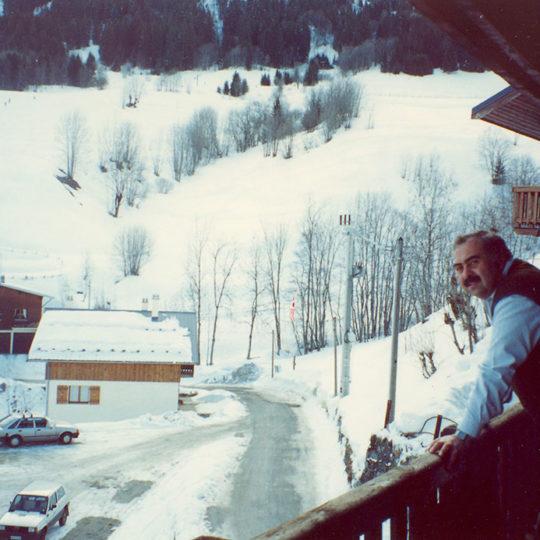 1992 Albertville Olimpiyat Oyunları (FRA) Kaldığımız otelden çevrenin görünüşü