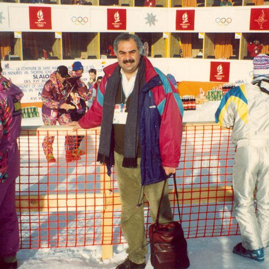 1992 Albertville Olimpiyat Oyunları (FRA) Slalom anlatım kabinleri