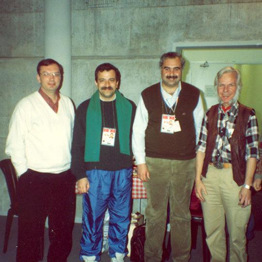 1992 Albertville Olimpiyat Oyunları (FRA) Kenan Onuk, Hüseyin Başaran, Fahri İkiler, İsveçli teknisyen, Barbaros Talı