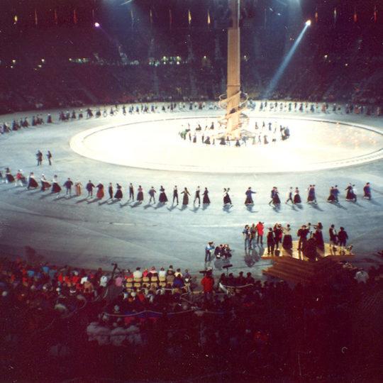 1992 Albertville Olimpiyat Oyunları (FRA) Oyunların kapanış töreni