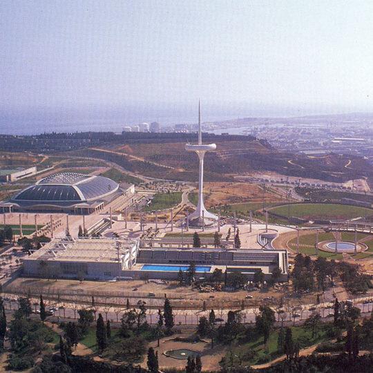 1992 Barcelona Olimpiyat Oyunları (İSP), Sant Jordi salonu ve Montjuic iletişim kulesi