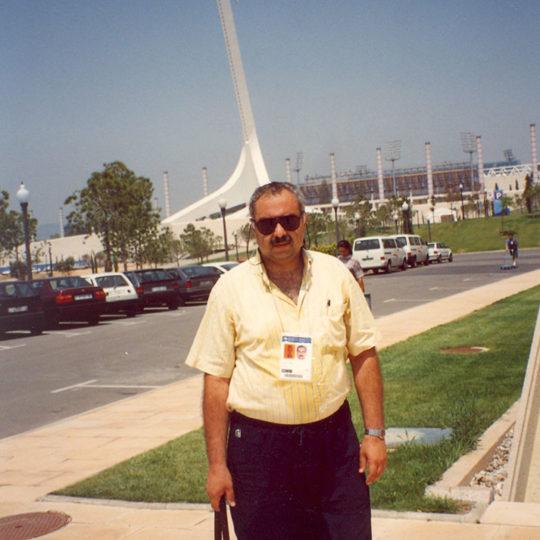 1992 Barcelona Olimpiyat Oyunları (İSP), Arka planda Montjuic iletişim kulesi