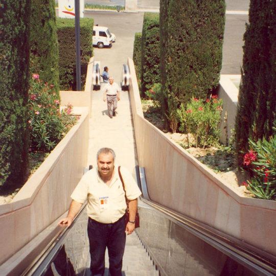 1992 Barcelona Olimpiyat Oyunları (İSP), Yarışma alanları arasındaki yürüyen merdiven