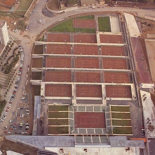 1992 Barcelona Olimpiyat Oyunları (İSP), Vall d'Hebron bölgesi tenis kortları