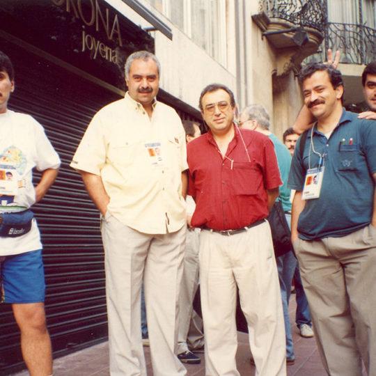 1992 Barcelona Olimpiyat Oyunları (İSP), TRT ekibinden bir grup