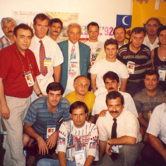 1992 Barcelona Olimpiyat Oyunları (İSP), TRT ekibi önemli konuklarıyla