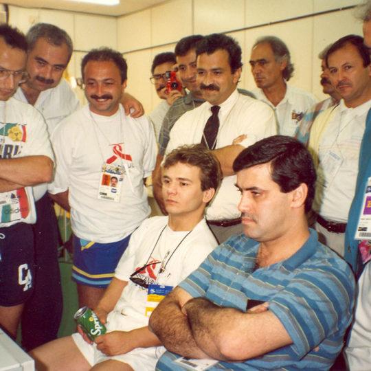 1992 Barcelona Olimpiyat Oyunları (İSP), Naim Süleymanoğlu kaldırışını izliyor