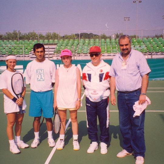 Tenis Milli Takımı, Gülberk Gültekin, Ali Rıza Toptaş, Duygu Akşit, Güneşi Olcay(Fed.Bşk.), Fahri İkiler