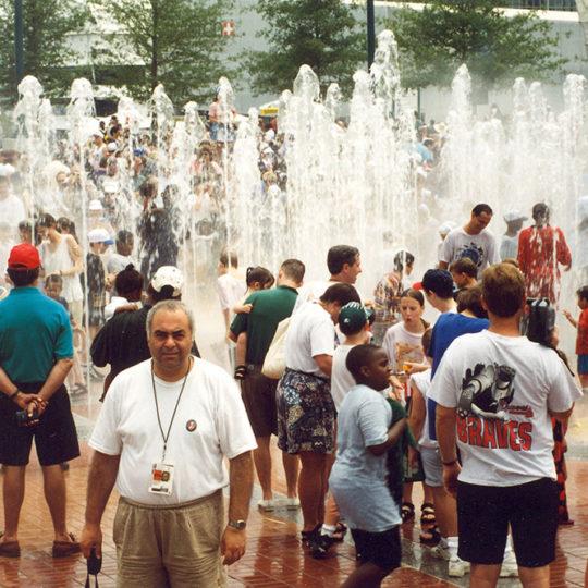 1996 Atlanta Olimpiyat Oyunları (ABD) Sıcak havada su ile bir gösteri