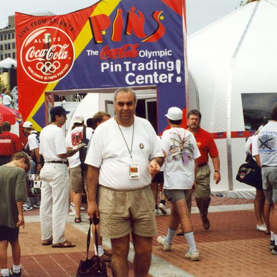 1996 Atlanta Olimpiyat Oyunları (ABD) Rozet değişim merkezi
