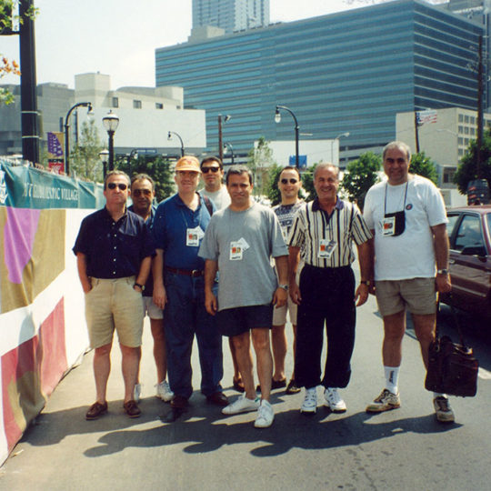 1996 Atlanta Olimpiyat Oyunları (ABD) Ekip ofise doğru sabah yürüyüşünde