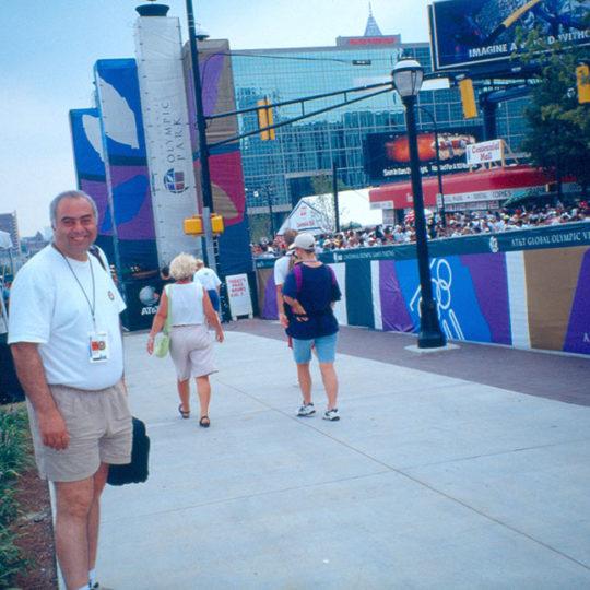 1996 Atlanta Olimpiyat Oyunları (ABD) Basın merkezi önü