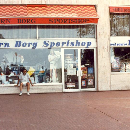 1983 Monte Carlo'da Björn Borg'a ait spor malzemeleri satan dükkan