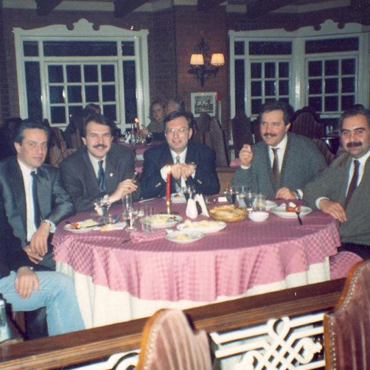 1992 Bir seyahat öncesi İstanbul Levent Tenis Kulübü'nde