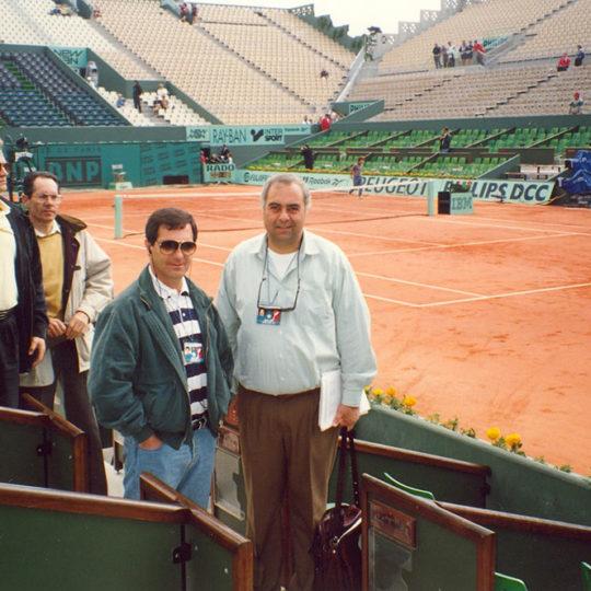 1994 Roland Garros merkez kortunda Aykut Duatepe ile