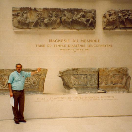1994 Artemis tapınağının taşları Paris'te