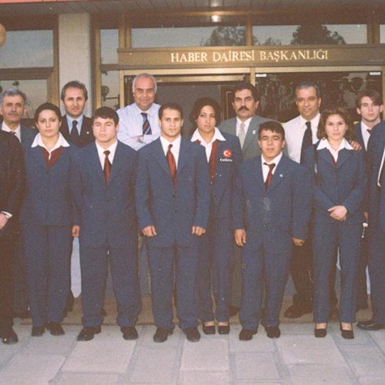 Halter Milli Takımı'nın TRT Haber Dairesi Başkanlığı'nı ziyareti
