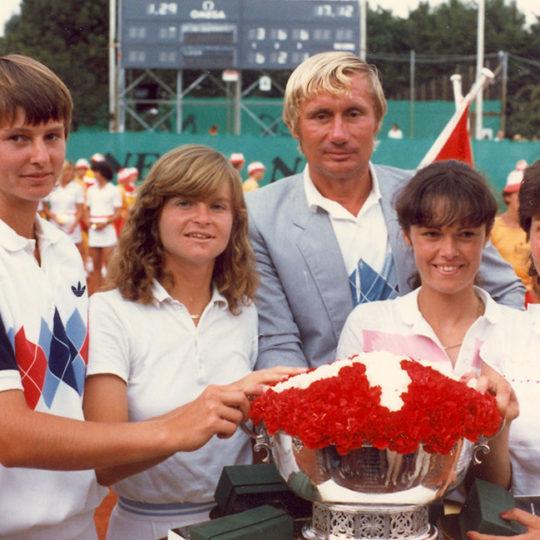 1983 Federasyon Kupası Finalleri – Zürih (SUI) Şampiyon Hana Mandlikova'lı, Helena Sukova'lı Çekoslovakya Takımı