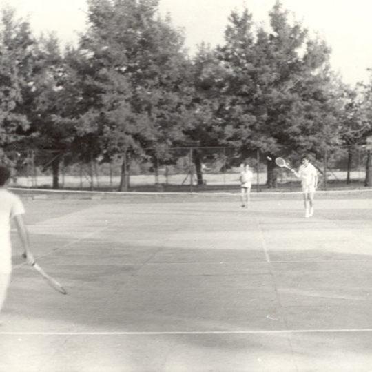 Kayseri Bez Fabrikası tenis kortu bir çift maçı