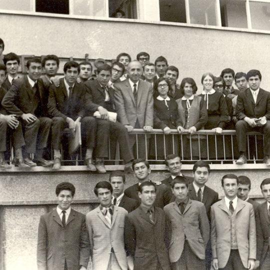 Kayseri Sümer Lisesi 6 Fen C sınıfı, müdür Osman Sargın ile, 1969-1970 öğretim yılı