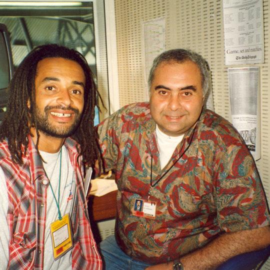 1983 Roland Garros şampiyonu Fransız Yannick Noah ile