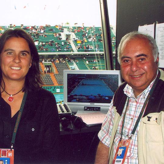 1994 Wimbledon şampiyonu İspanyol Conchita Martinez ile