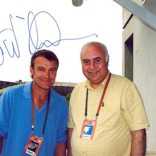 7 Grand Slam tekler şampiyonu İsveçli Mats Wilander ile