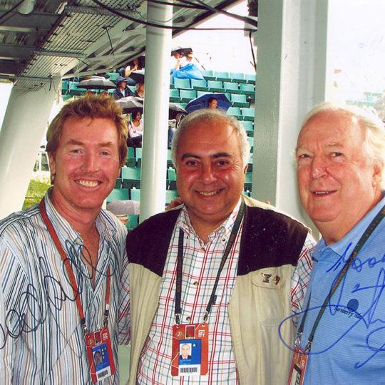 12 Grand Slam çiftler şampiyonu Avustralyalı Mark Woodforde ve 2 Grand Slam tekler birincisi, coach Avustralyalı Fred Stolle ile