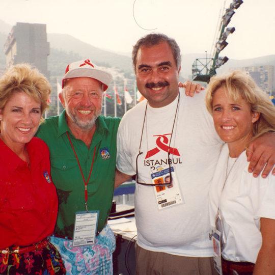 Chris Evert (ABD) 18 Grand Slam tekler şampiyonu / Bud Collins (ABD) NBC tenis yorumcusu ve yazarı / Tracy Austin (ABD) 2 Grand Slam tekler şampiyonu