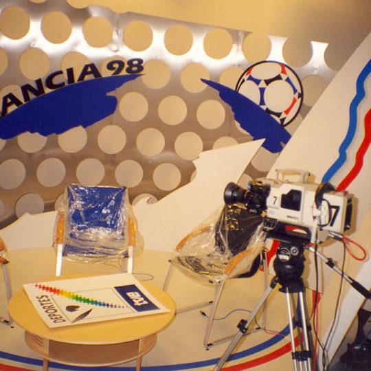 Fransa 98 organizasyon öncesi Uluslararası Radyo-TV merkezi (Paris) İspanya Televizyonu stüdyosu